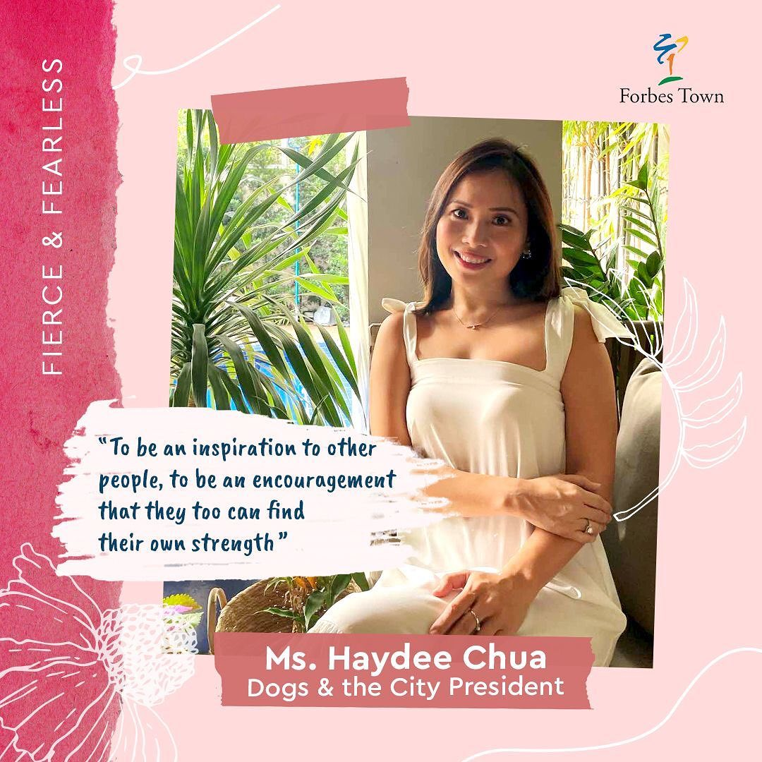 Dogs and the City President Haydee Chua