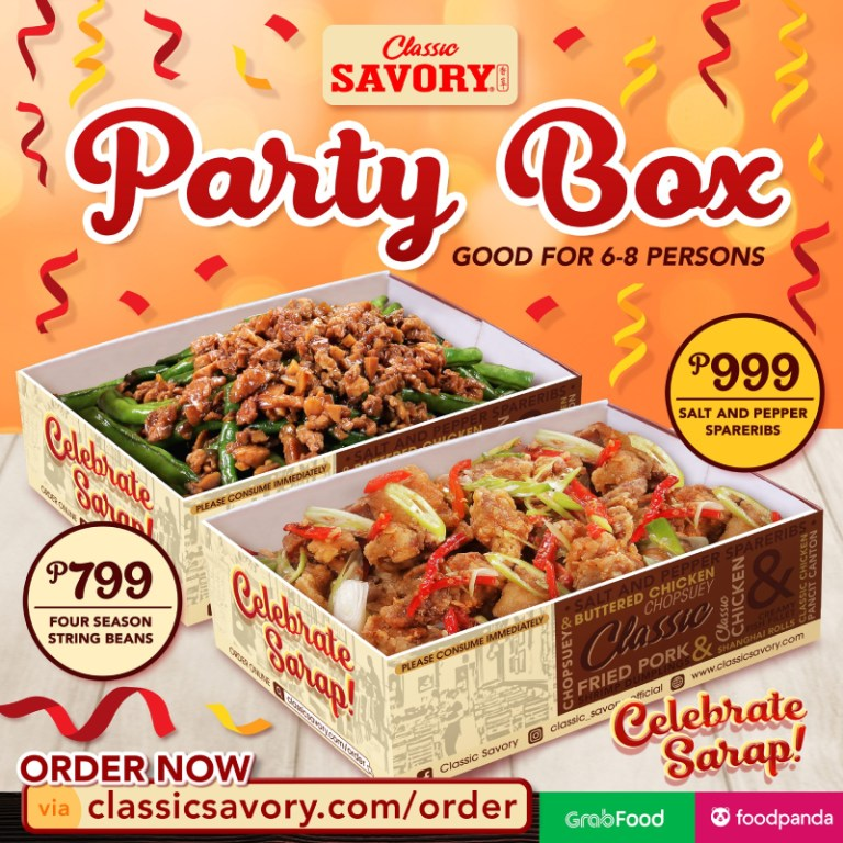 Classic Savory. Contact them at: 0917 584 7157