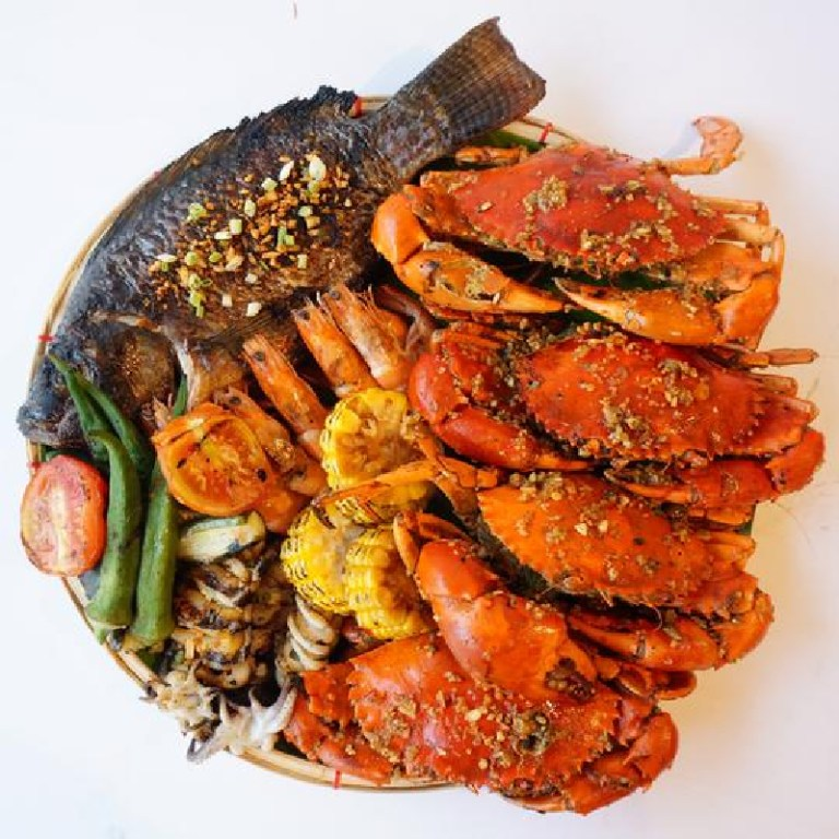 Seafood Island. Contact them at: 0916 457 7766