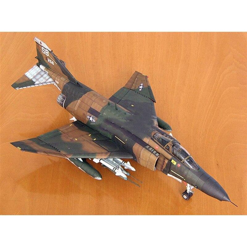 DIY 3D American F-4B Fighter Plane Aircraft Paper Model Assemble Hand Work  Handmade Kids Toys Gift 1:33 54CM