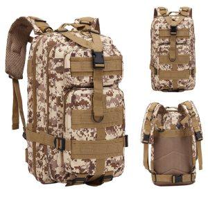 LOOZYKIT Large Capacity Backpack Nylon Waterproof Military  Military Bag Men Backpack Rucksack for H...