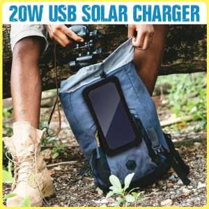 New 7W 5V Sunpower Solar Panels Charger Bank Backpack Solar Cells with USB Port for Camping Hiking