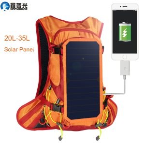 Xinpuguang 6W 6V USB Orange Backpack Solar Panel Battery Power Bank Charger for Phone Outdoor Sport ...