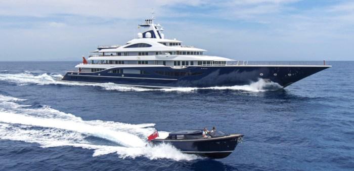 tis yacht and tis tender boat
