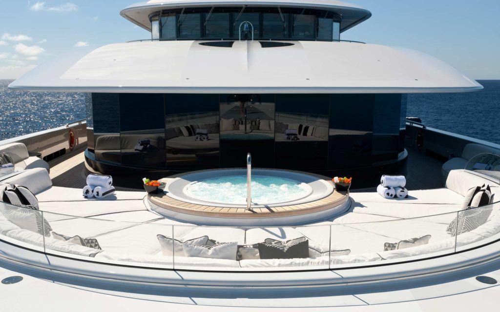 Jacuzzi on yacht