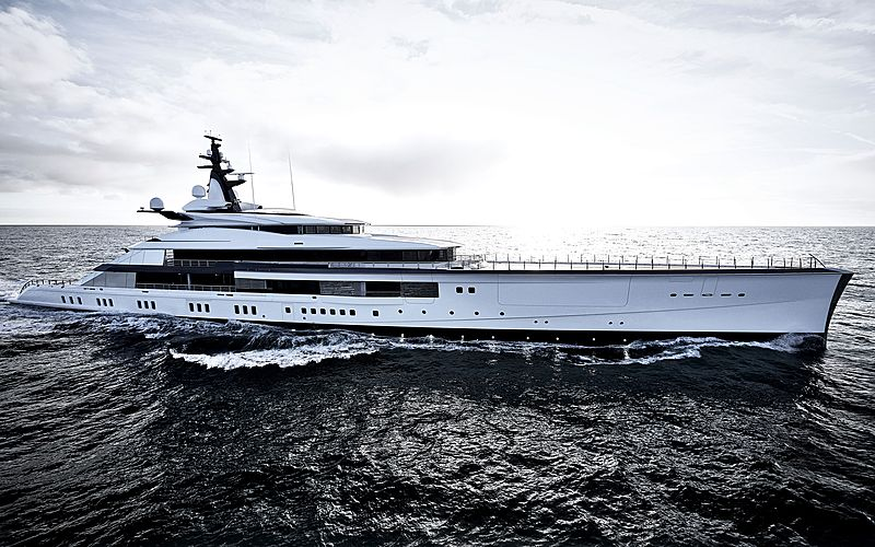 large luxury yacht bravo eugenia in ocean