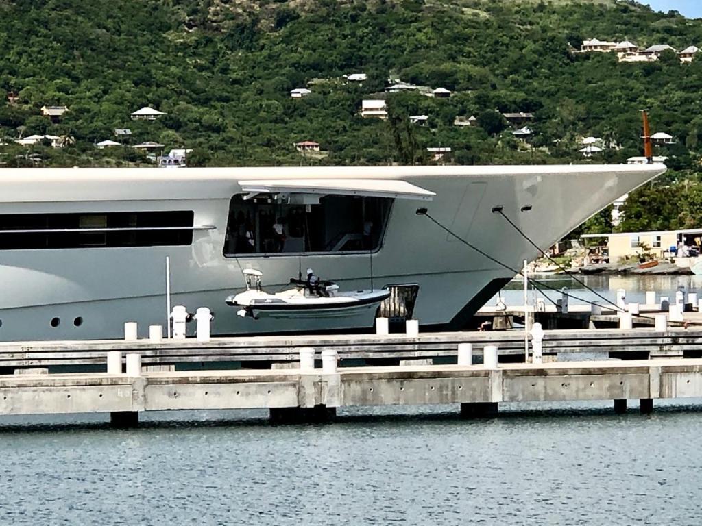 Luxury yacht Anna tender garage opened