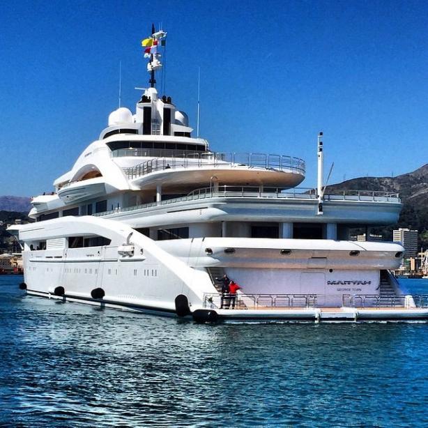 Super yacht Maryah aft deck