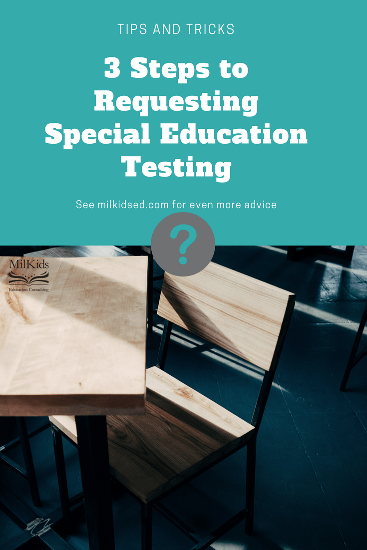 Easy 3 step process to getting your child special education testing with a FREE download included! | Meg Flanagan, MilKids Ed | Make the K-12 Journey Easier | Join the MilKids Ed Email list for even more FREE downloads: http://eepurl.com/c1i809