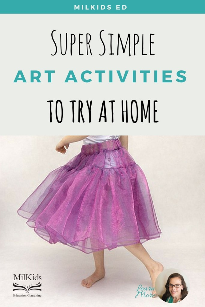 Super simple art activities are a great way to explore music, theater, and dance at home!