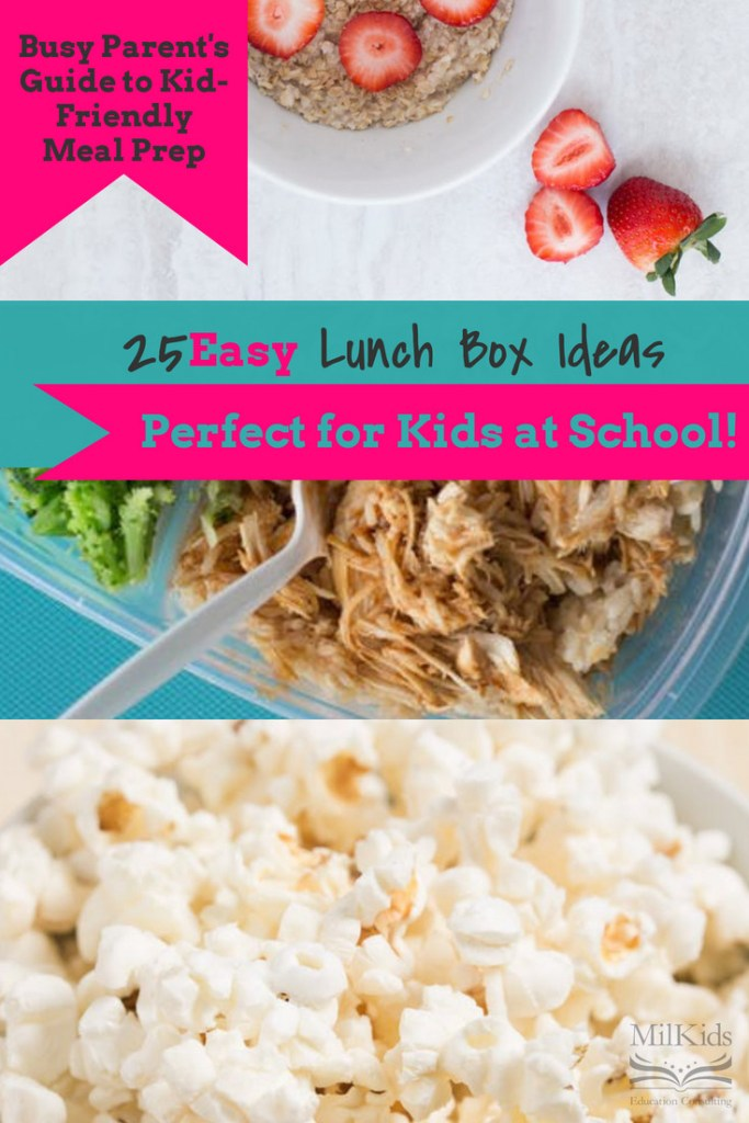 Make breakfast, lunch, and snack super simple with 25 kid-friendly lunch box ideas for busy parents!