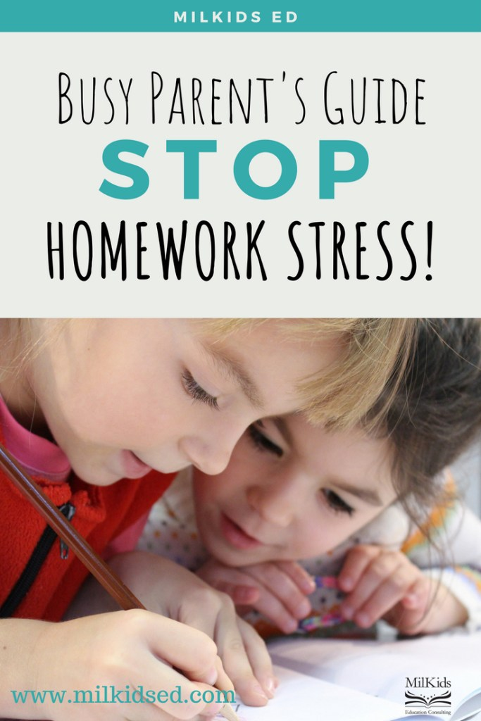 Stop homework stress with this simple trick for busy parents!