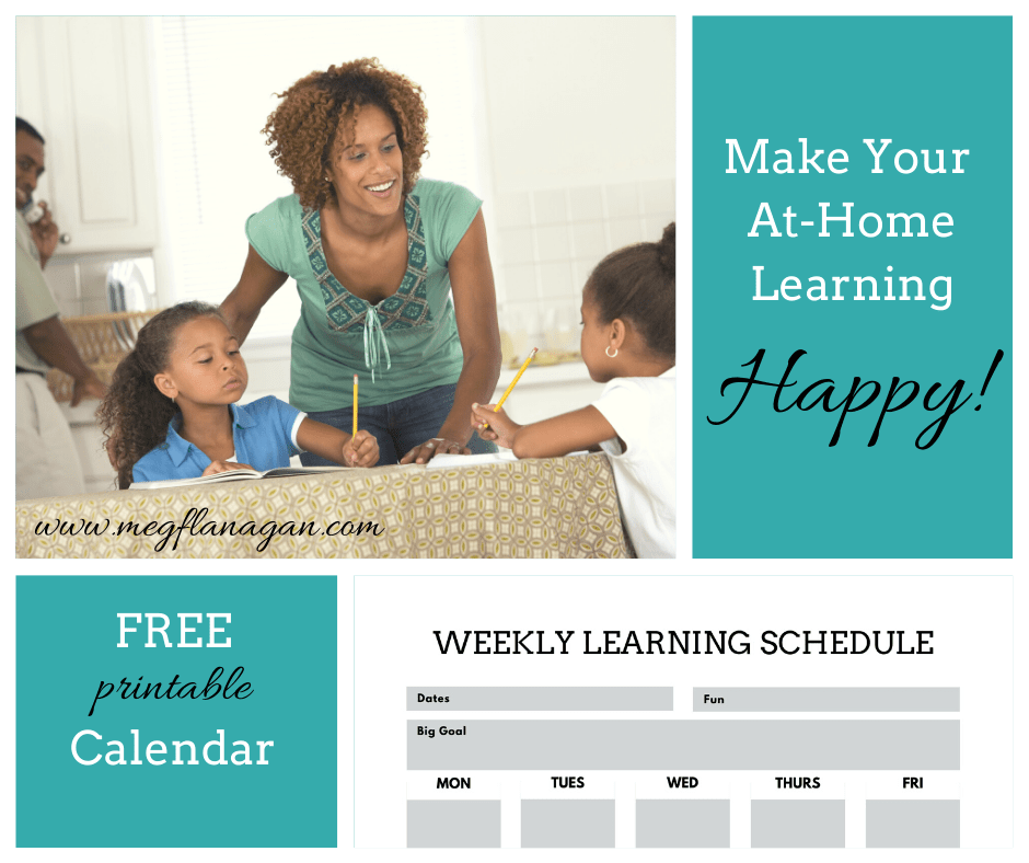 Use a free printable to organize your stay sane learning plan for the pandemic!