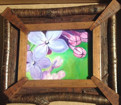 Lilac Miniature framed by my favorite frame. Gifted to AR. NFS