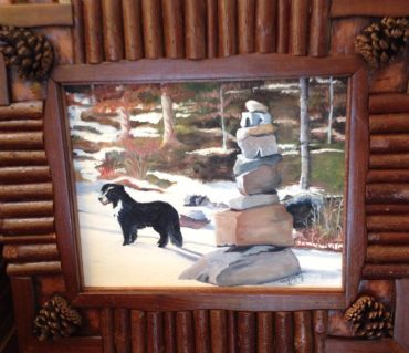Framed Image from my favorite framer, Sancho with Cairn, Crane Mountain Road, Johnsburg NY Not for Sale