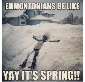 Spring in Edmonton