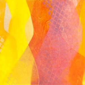"""Let's Talk"" by Meghan MacMillan, 12 x 16"", acrylic on birch panel, 2014"