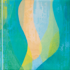 """Float Away"" by Meghan MacMillan. Acrylic on birch, 10 x 10, 2015"
