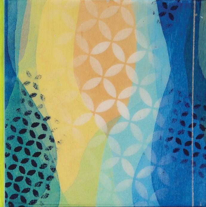 """Start Again"" by Meghan MacMillan. Acrylic on birch, 10 x 10"", 2015"