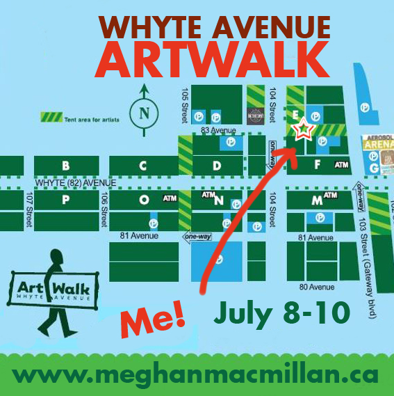 Find Meghan MacMillan at the 2016 Whyte Avenue Art Walk!