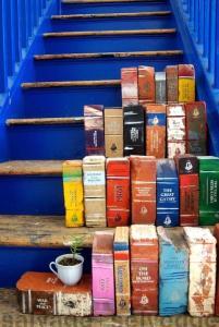 Bricks, painted to look like books