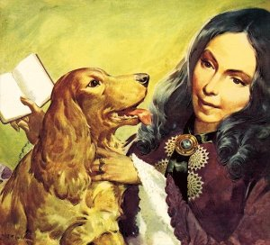 Browning and Flush. The Faithful Friend - Artwork by James E McConnell