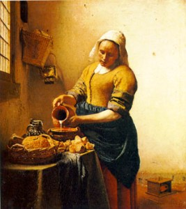 Woman Pouring Milk - Vermeer