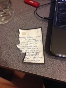 chewed paper