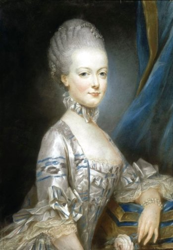 Marie Antoinette, in one of her many gorgeous gowns.