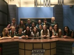 Ohio University's newsroom with Chronicle staff members