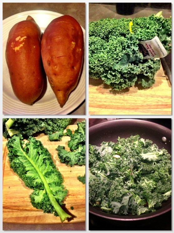 images of sweet potato and kale