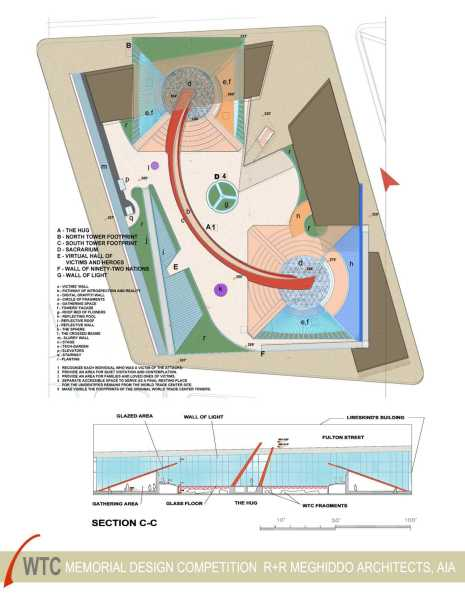 Rick Meghiddo, Ruth Meghiddo, Meghiddo Architects, www.architectureawareness.com , www.rick-RE.com , www.naturaltowergarden.com , 9/11. Nine eleven memorial, New York, design competition