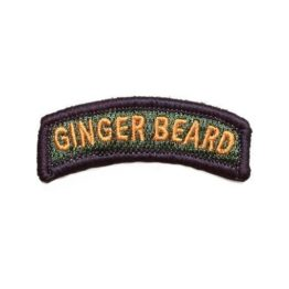 Black Sheep Warrior Ginger Beard Embroidered Tab Patch
