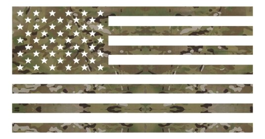 MTG Multicam Flag Decal