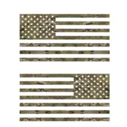 Multicam Flag Decal Set