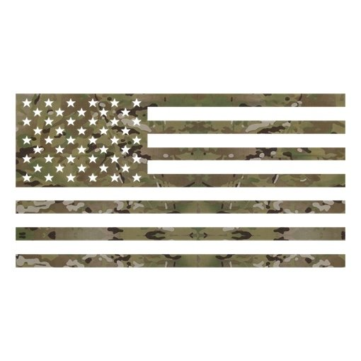 MULTICAM USA Flag Decal Set