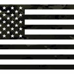 Multicam Black Flag Decal