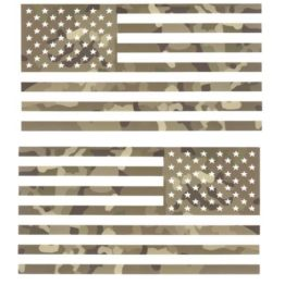 Camo Flag Decal Set