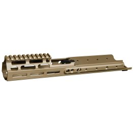 Kinetic Development Group SCAR MREX Receiver Extension – MLOK 6.5″ Brown