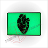 Black Hearted Rectangle Patch