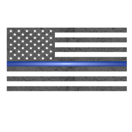Thin Blue Line Subdued Flag Sticker