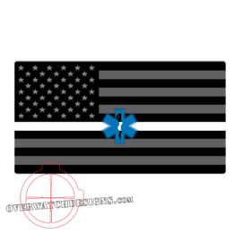 Thin White Line Flag Sticker