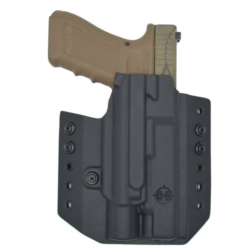 C&G Glock 34-17-19 X200-X300-XH35 OWB Tactical Kydex Holster - Quickship 2
