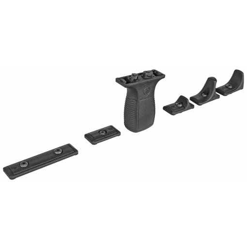 Sig Sauer TREAD Vertical Grip Kit including: vertical grip, barricade stop, handstop, long & short M-LOK Rail sections. M-LOK connectors and mounting hardware included.