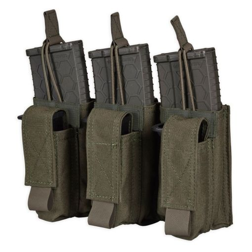 Ranger Green Kangaroo Triple Mag Pouch For rifle and pistol mags