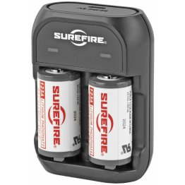 Surefire 123A Rechargeable Battery 2-Pack & Charger Kit