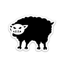 Black Sheep Warrior 3x2 Die Cut Decal