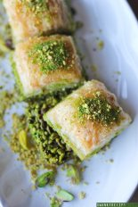 25 Recipes That Use Pistachios - Turkish Pistachio Baklava from Swanky Recipes