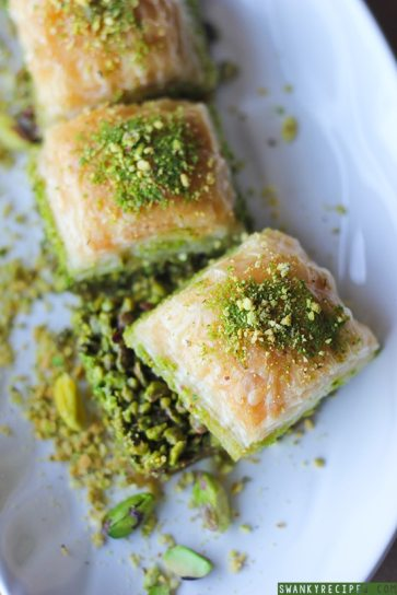 25 Recipes That Use Pistachios - Turkish Pistachio Baklava from Swanky Recipes