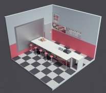 Diner WIP by Dementedvision